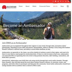 Ambassadors - Outdoor Women's Alliance
