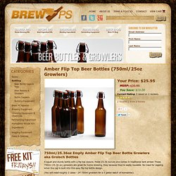 Amber Flip Top Beer Bottles (750ml Growlers) - Case of 12