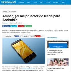 Amber, el mejor lector de noticias para Android