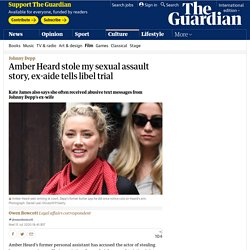 Amber Heard stole my sexual assault story, ex-aide tells libel trial