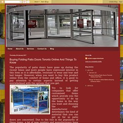 ambercopperaluminum: Buying Folding Patio Doors Toronto Online And Things To Know