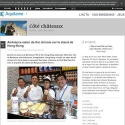 Ambiance salon de thé chinois sur le stand de Hong-Kong