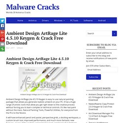 Ambient Design ArtRage Lite 4.5.10 Keygen & Crack Free Download