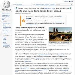 Impatto ambientale dell'industria dei cibi animali
