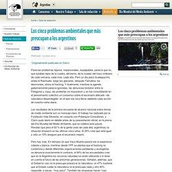 Fundación Vida Silvestre Argentina - Los cinco problemas ambientales que más preocupan a los argentinos