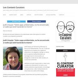 """Judit Urquijo: """"Sobre apps ambientales, no he encontrado a nadie que esté hac..."""