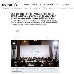 """Climat : déçus par des mesures """"pas assez ambitieuses"""", des membres de la Convention citoyenne en appellent aux parlementaires"""