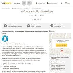 Le Fonds Ambition Numérique