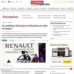 Les ambitions électriques de Renault sont-elles en danger?
