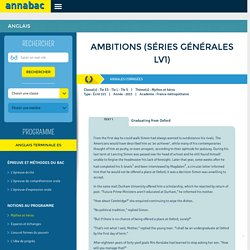 Ambitions (séries générales LV1)