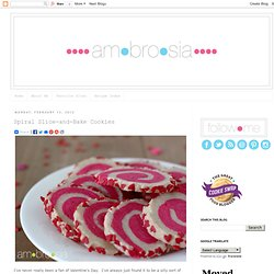 ambrosia: Spiral Slice-and-Bake Cookies