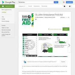 St John Ambulance First Aid – Applications Android sur Google Play