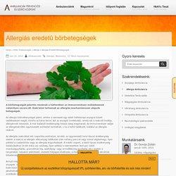 Allergiás eredetű bőrbetegségek