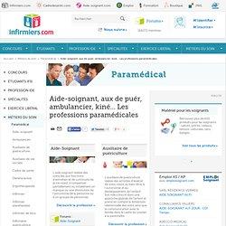 Aide-soignant, aux de puér, ambulancier, kiné… Les professions paramédicales