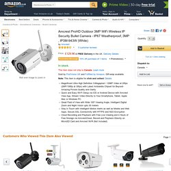 Amcrest ProHD Outdoor 3MP WiFi Wireless IP Security Bullet Camera.