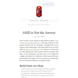 AMD is Not the Answer