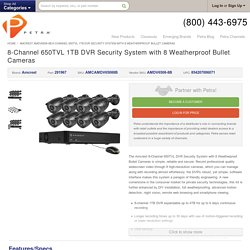 8-Channel 650TVL 1TB DVR Security System