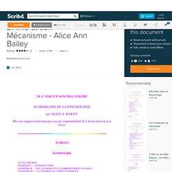 L'Ame et son Mécanisme - Alice Ann Bailey