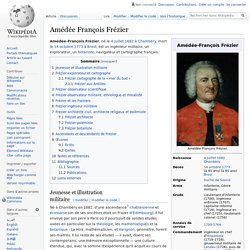 Amédée François Frézier