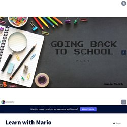 Learn with Mario par amelie.boufflers sur Genially