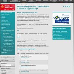 Education Formation - Programme Régional pour l'Amélioration de la Qualité de l'Apprentissage