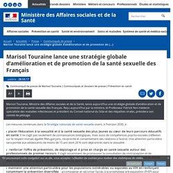 Lancement de la Stratégie nationale de santé sexuelle - Ministère des affaires sociales et de la santé