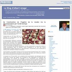 De l'amélioration de l'hygiène de la viandes via la décontamination par l'acide lactique