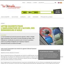 Lettre ouverte pour l'amélioration de l'accueil des demandeurs d'asile - La Cimade