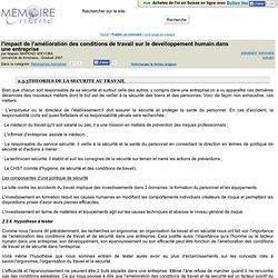 l'impact de l'amelioration des conditions de travail sur le develloppement humain dans une entreprise - Mapaix MAPENZI M'KYOBA