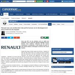 Renault vise une amélioration des performances via le développement de la mixité de ses équipes