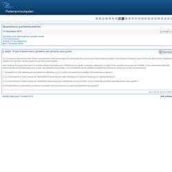 PARLEMENT EUROPEEN - Réponse à question E-011387-12 Projet d'amélioration gustative des aliments sans gluten