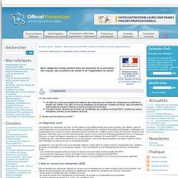 Les aides à l'amélioration de l'organisation et des conditions de travail