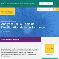 Analytics 3.0 : au-delà de l'amélioration de la performance