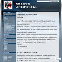 Amélioration de la performance - Baromètre de Gestion Stratégique