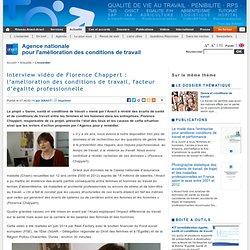 Interview vidéo de Florence Chappert : l'amélioration des conditions de travail, facteur d'égalité professionnelle