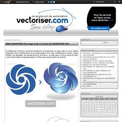 AMELIORATION d'un logo web 1.0 avec ILLUSTRATOR CS4 - Le BLOG sur la VECTORISATION