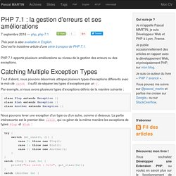 PHP 7.1 : la gestion d'erreurs et ses améliorations — Pascal MARTIN: développement Web & PHP