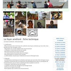 Le foyer amélioré : fiche technique - La Guinée : de l'eau, du bois, du soleil
