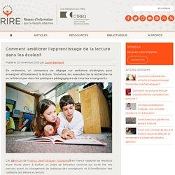 Comment améliorer l'apprentissage de la lecture dans les écoles?