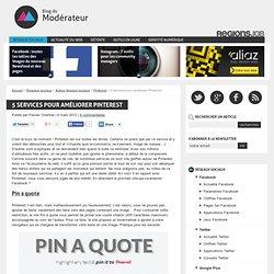 5 services pour améliorer Pinterest