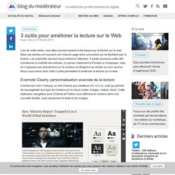 3 outils pour améliorer la lecture sur le Web