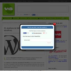 P3, Améliorer de 100% la Vitesse de Chargement de WordPress