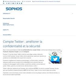 Compte Twitter : améliorer la confidentialité et la sécurité