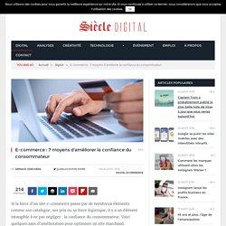 E-commerce : 7 moyens d'améliorer la confiance du consommateur