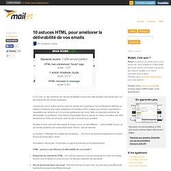 10 astuces HTML pour améliorer la délivrabilité de vos emails