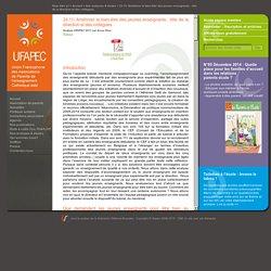 34.11/ Améliorer le bien-être des jeunes enseignants: rôle de la direction et des collègues.