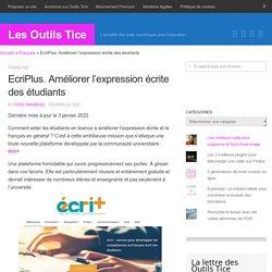 EcriPlus. Ameliorer l'expression écrite des étudiants