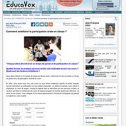 Comment améliorer la participation orale en classe ?