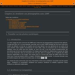 Chapitre10.Améliorer vos photographies avec GIMP