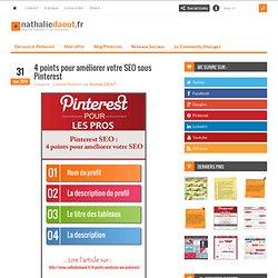 4 points pour améliorer votre SEO sous Pinterest